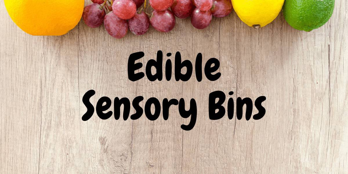 edible sensory bins
